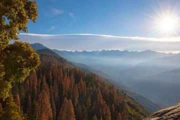 Photo of autumn sunrise at Moro Rock