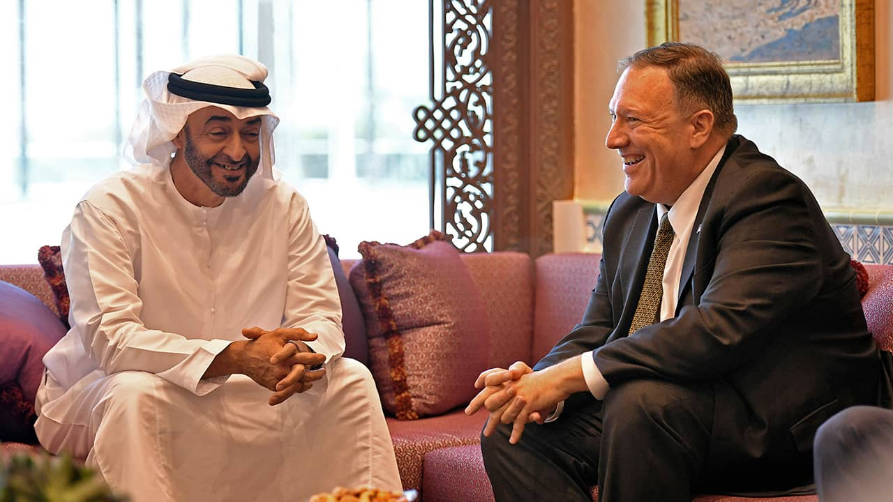 Photo of Secretary of State Mike Pompeo and Abu Dhabi Crown Prince Mohamed bin Zayed