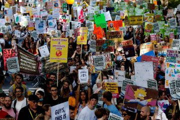 Photo of protestors in London