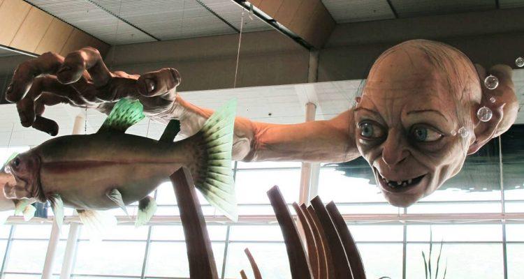 Photo of a sculpture of Gollum