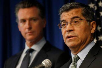 Photo of Gov. Gavin Newsom and Attorney General Xavier Becerra