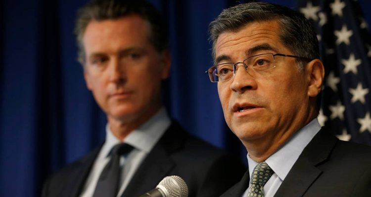 Photo of Gov. Gavin Newsom and Attorney General Xavier Becerra
