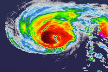 Photo of Hurricane Humberto map