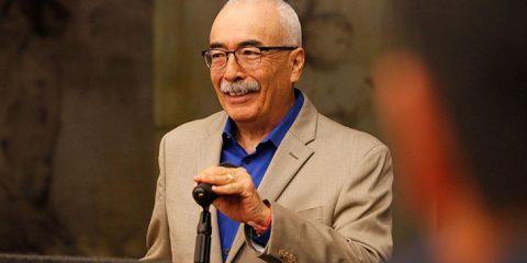 Portrait of former U.S. Poet Laureate Juan Felipe Herrera
