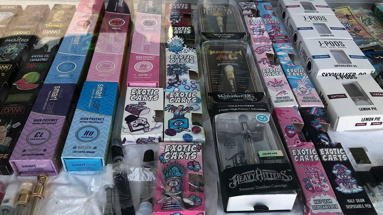 Photo of counterfeit vape packaging