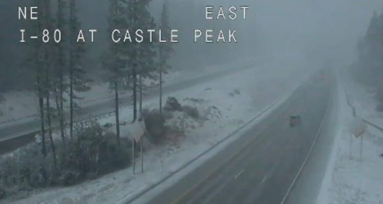 Photo of snow on Donner Summit