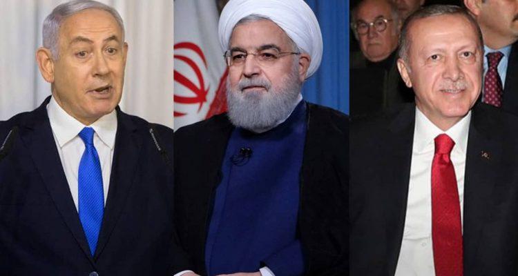 Photo of Iranian President Hassan Rouhani, Russian President Vladimir Putin and Turkish President Recep Tayyip Erdogan