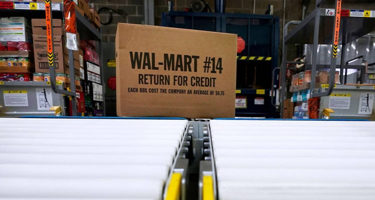Photo of a box of Walmart merchandise