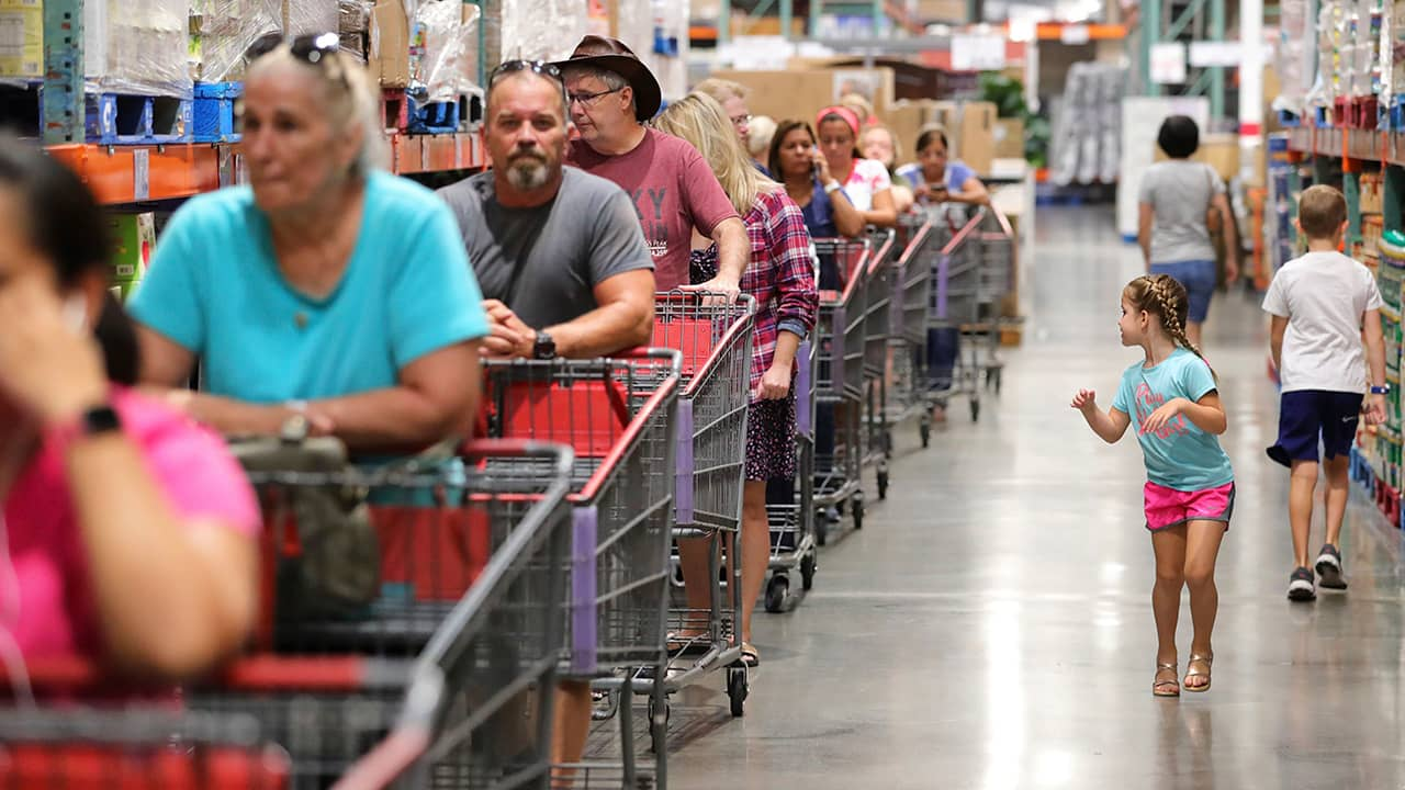 Photo of shoppers at Costco