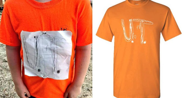 Photo of Tennessee shirt kid and t-shirt design