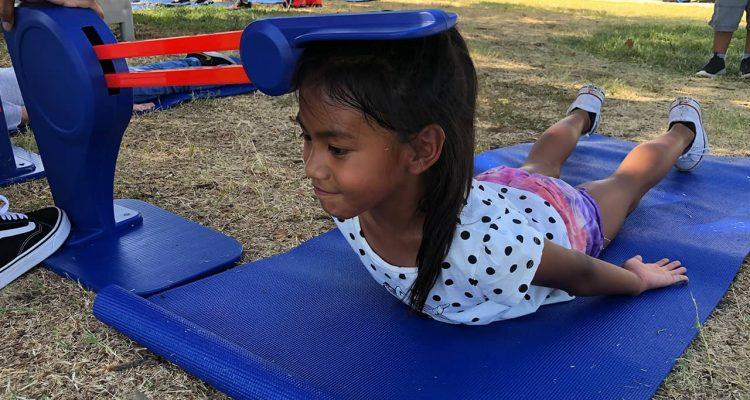 Photo of Kitana Cano stretching