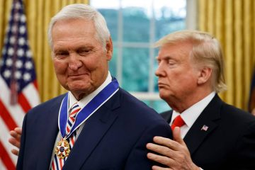 Photo of Jerry West and President Donald Trump