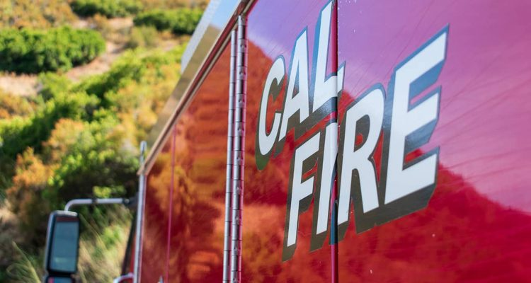 Photo of Cal Fire truck