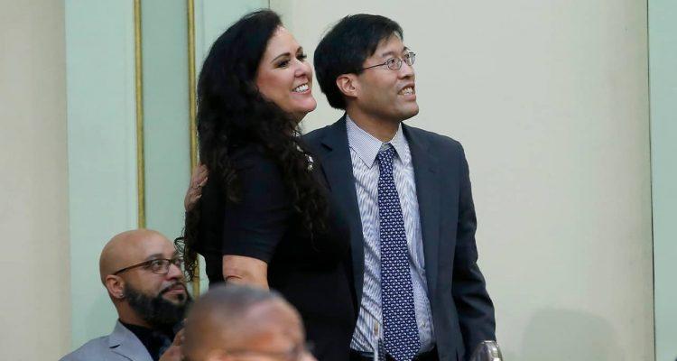 Photo of Sen. Richard Pan and Assemblywoman Lorena Garcia