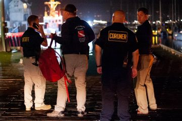 Photo of law enforcement and coroners in Santa Barbara, Ca.