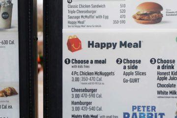 Photo of McDonalds menu