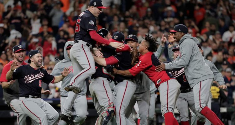 Photo of Washington Nationals after winning the World Series
