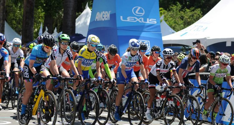 Photo of Tour of California cyclists