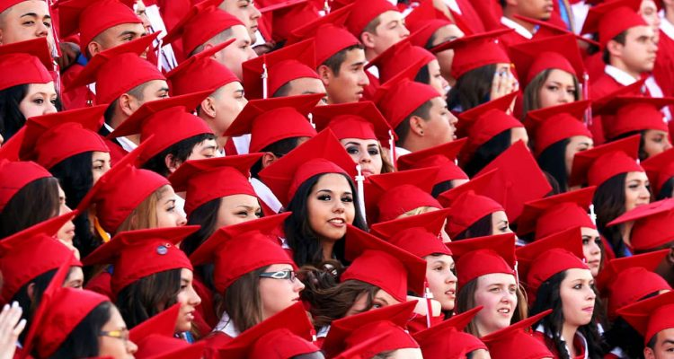 Photos of students graduating high school