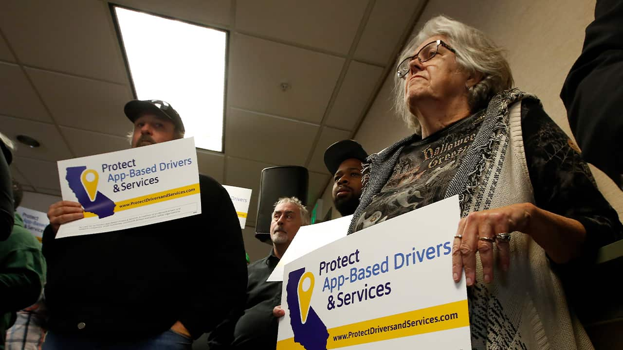 Photo of drivers showing support for the proposed ballot measure