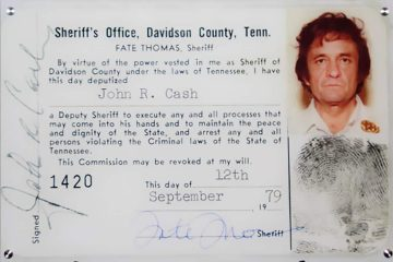 Photo of Johnny Cash's Deputy Sheriff ID Card