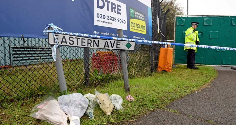 Photo of tributes at the Waterglade Industrial Park