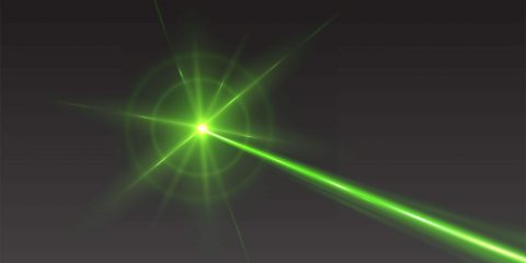 photo of a green laser beam