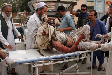 Photo of a wounded man
