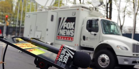 Photo of Fox News van and microphone