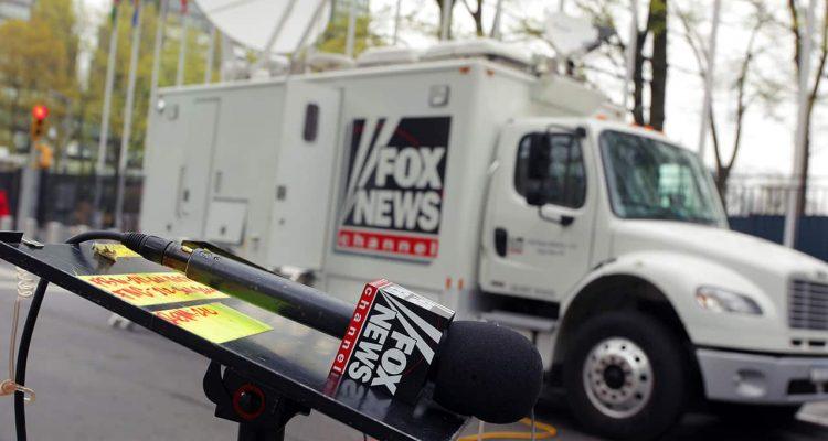 Photo of Fox News van and microphone