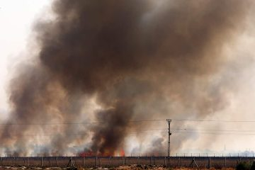 Photo of smoke in Tel Abyad, Syria
