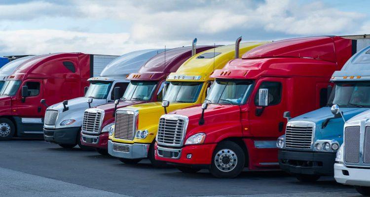 Photo of semi trucks