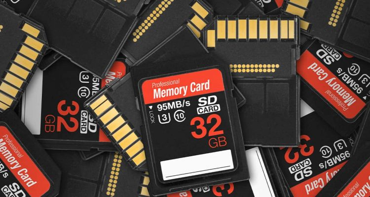 Photo of memory cards