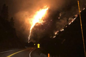 Photo of Briceburg Fire on Highway 140
