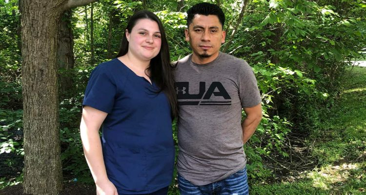 Photo of Alyse Sanchez and her husband Elmer Sanchez