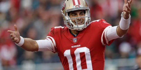 Photo of Jimmy Garoppolo in a 49ers uniform