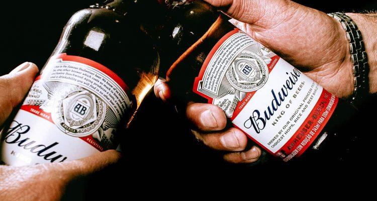 Photo of Budweiser bottles
