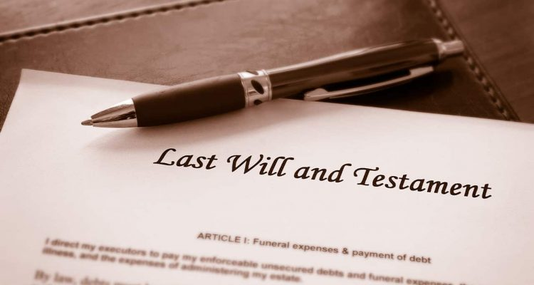 Photo of last will and testament