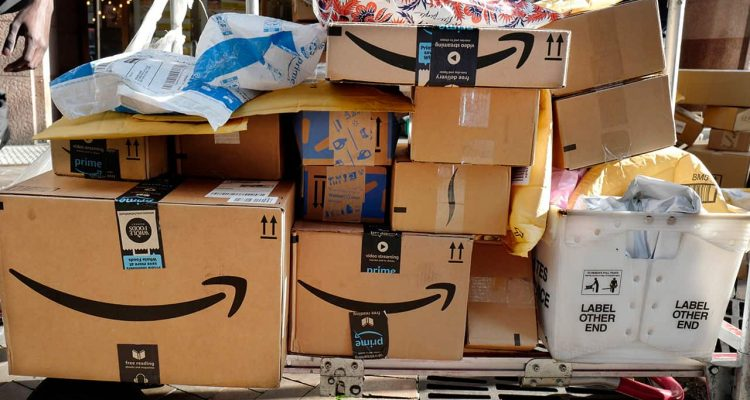 Photo of Amazon packages