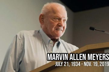 Photo of Marvin Meyers with the dates of his birth and death