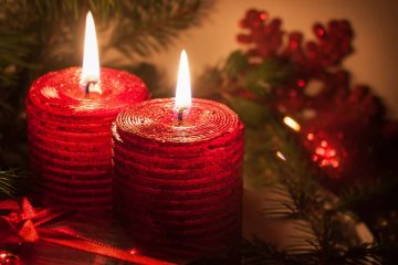 photo of holiday candles