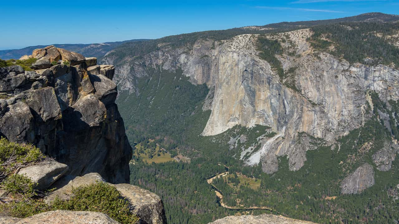 Photo of view from Taft Point, Yosemite