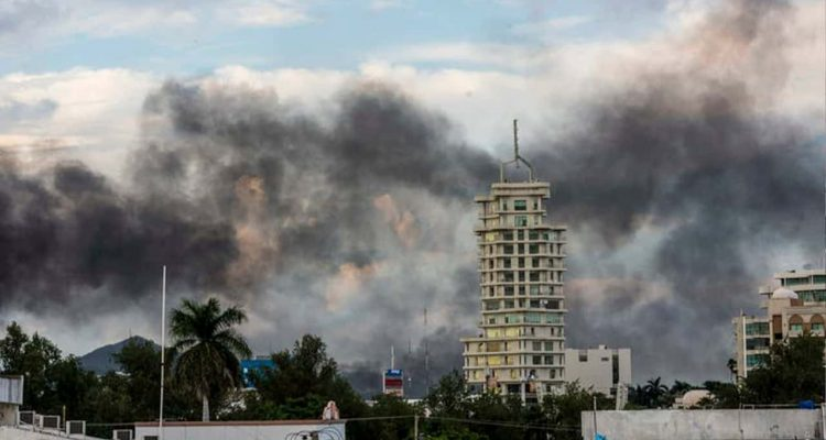 Photo of clouds of smoke in Mexico