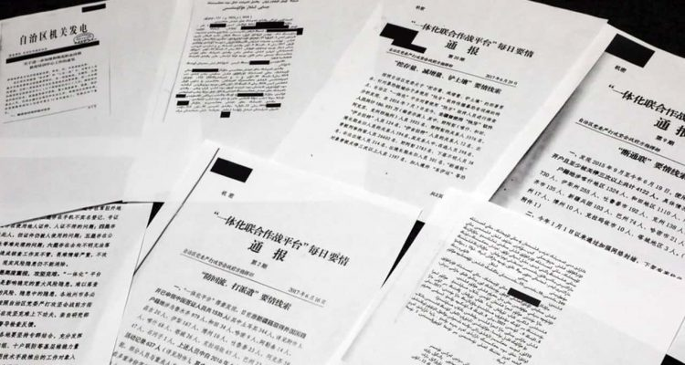 Photo of classified Chinese government documents