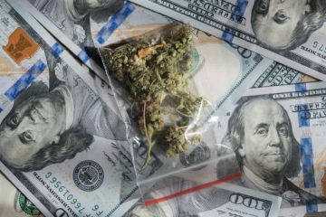 Photo of money and marijuana