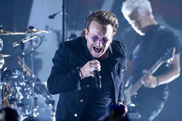 Photo of Bono of U2