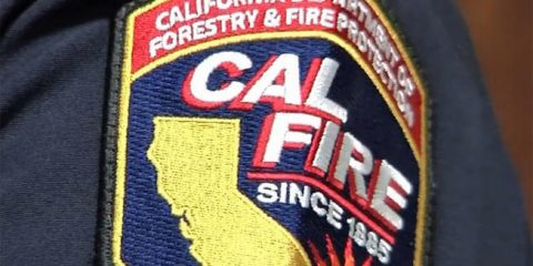 Photo of a Cal Fire shoulder patchbad
