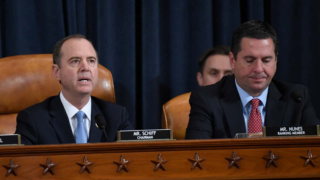 Photo of House Intelligence Committee Chairman Adam Schiff and Rep. Devin Nunes
