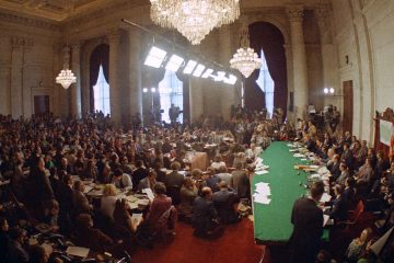 Photo of Senate Watergate Hearing Committee in 1973
