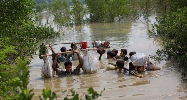 Photo of a Rohingya family